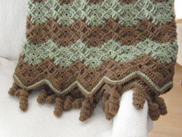 Chocolate & Mint Ripple Afghan